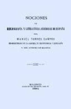 Chapultepecuno.mx Nociones De Bibliografia Y Literatura Juridicos De España (Facsim Il) Image
