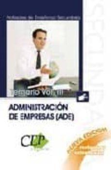 Cronouno.es Cuerpo De Profesores De Enseñanza Secundaria. Administracion De E Mpresas (Ade). Temario Oposiciones (Vol. Iii) Image