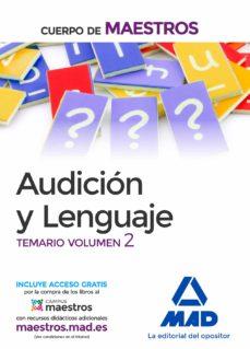 cuerpo de maestros audición y lenguaje. temario volumen 2-9788414206898