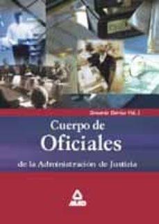 Permacultivo.es Cuerpo De Oficiales De La Administracion De Justicia: Temario Teo Rico (Vol. I) Image