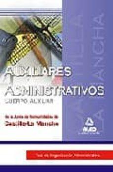 Inmaswan.es Auxiliares Administrativos (Cuerpo Auxiliar) De La Junta De Comun Idades De Castilla-la Mancha: Test De Organizacion Administrativa Image