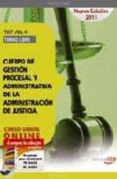 Emprende2020.es Cuerpo De Gestion Procesal Y Administrativa De La Administracion De Justicia. Turno Libre. Test Vol. Ii.(4ª Ed.) Image