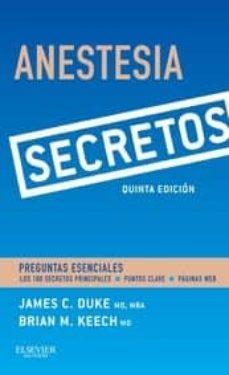 Descargar libros en iPod Shuffle ANESTESIA. SECRETOS, 5ª ED. de  FB2 iBook en español 9788490229798