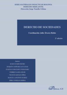 derecho de sociedades (2ª ed.)-julio alvarez rubio-9788490858998
