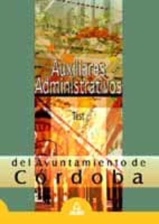 AUXILIARES ADMINISTRATIVOS DEL AYUNTAMIENTO DE CORDOBA. TEST