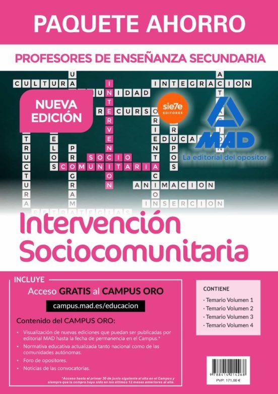 PAQUETE AHORRO INTERVENCIÓN SOCIOCOMUNITARIA CUERPO DE PROFESORES DE ENSEÑANZA S