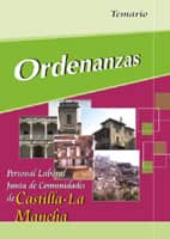 ORDENANZAS: PERSONAL LABORAL JUNTA DE COMUNIDADES DE CASTILLA-LA MANCHA: TEMARIO