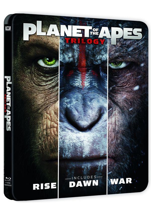 trilogía planeta de los simios - blu ray - steelbook-8420266012364