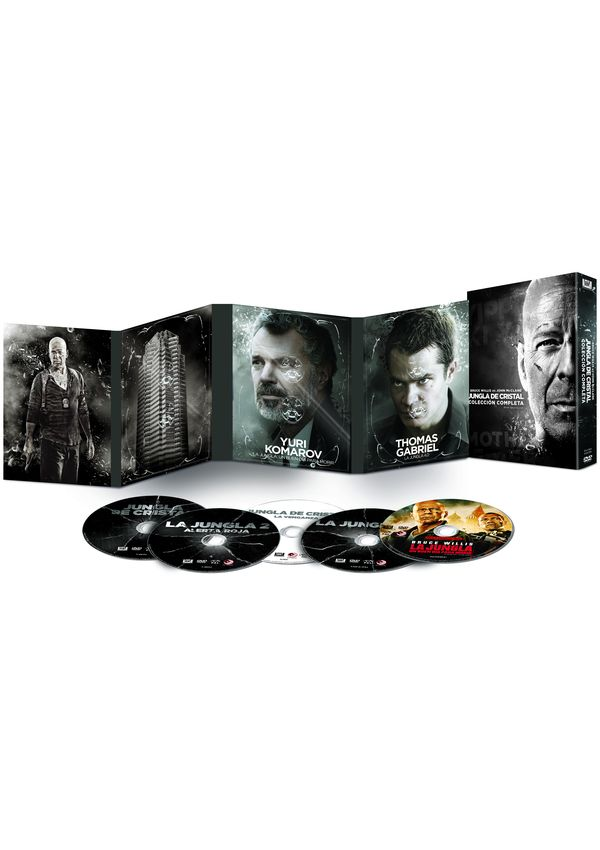 jungla de cristal - dvd - colección completa 1-5-8420266011657